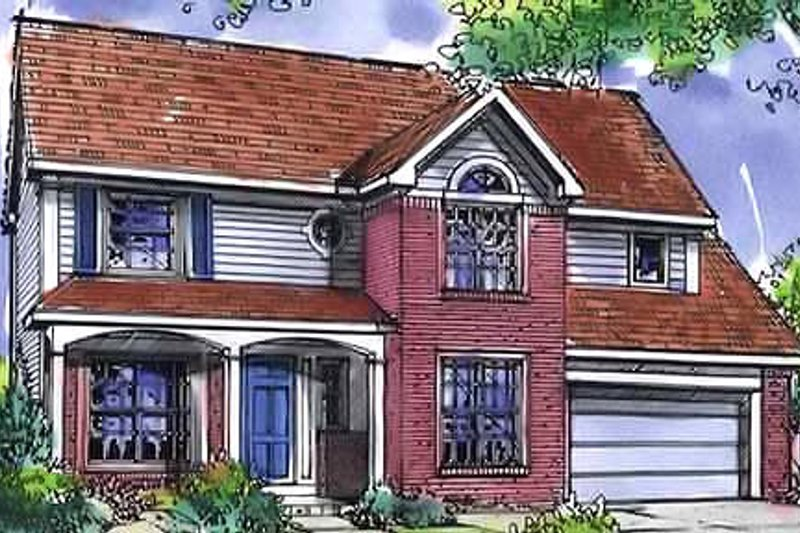 Country Exterior - Front Elevation Plan #320-454