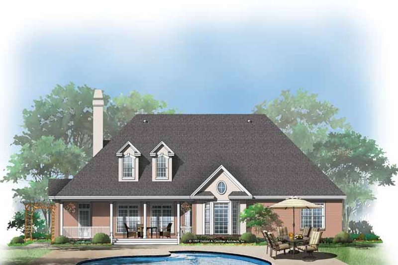 Home Plan - Ranch Exterior - Rear Elevation Plan #929-293