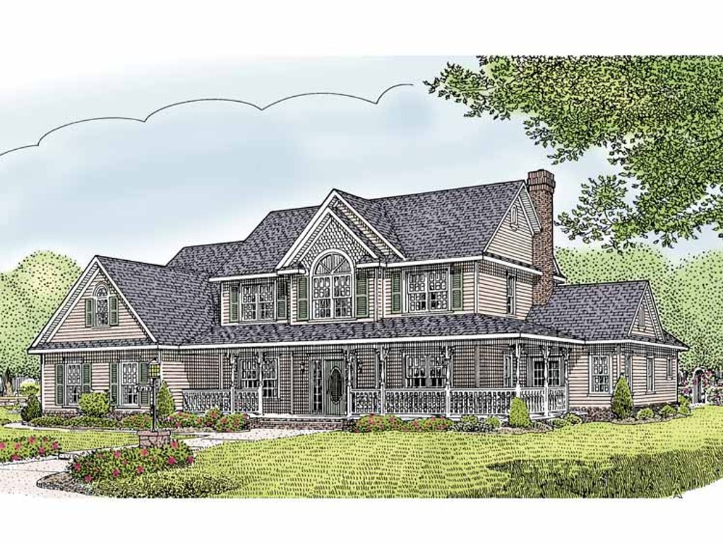 Country style house plan 5 beds 2 5 baths 2984 sq ft for Breland homes floor plans
