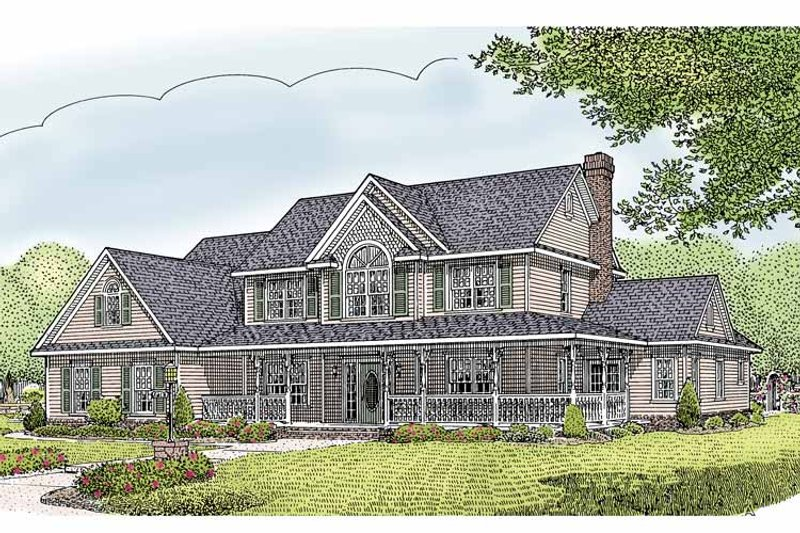 Country Exterior - Front Elevation Plan #11-274 - Houseplans.com