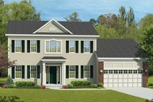 Classical Exterior - Front Elevation Plan #1010-192