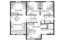 Contemporary Floor Plan - Upper Floor Plan Plan #23-2588