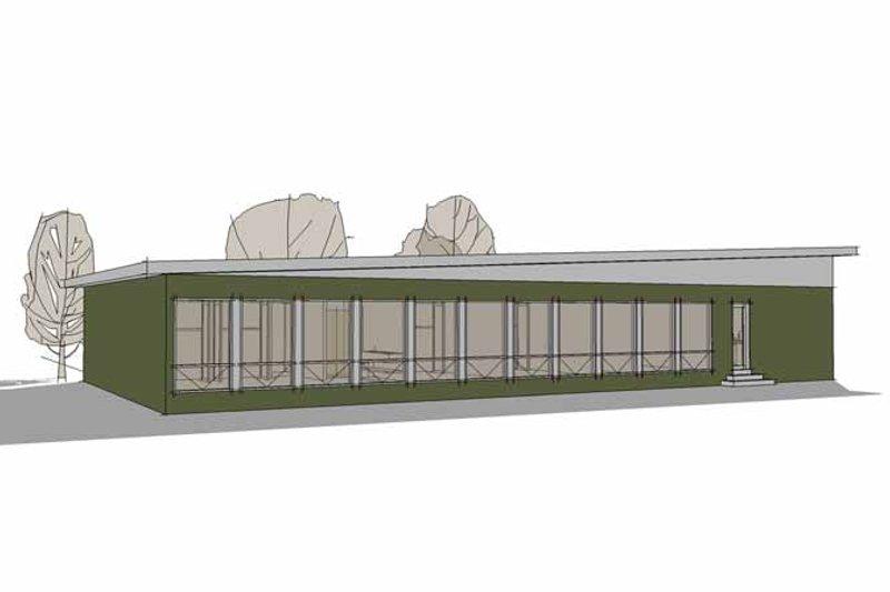 Contemporary Exterior - Rear Elevation Plan #64-310 - Houseplans.com