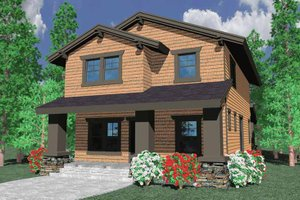 Prairie Exterior - Front Elevation Plan #509-221