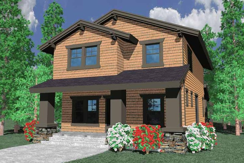 Prairie Exterior - Front Elevation Plan #509-221 - Houseplans.com