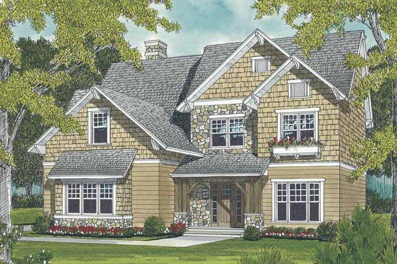 Craftsman Exterior - Front Elevation Plan #453-496 - Houseplans.com