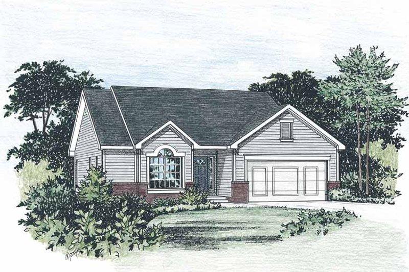 House Plan Design - Ranch Exterior - Front Elevation Plan #20-2234