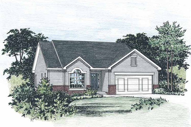 Ranch Exterior - Front Elevation Plan #20-2234