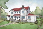 Farmhouse Style House Plan - 4 Beds 3.5 Baths 2740 Sq/Ft Plan #928-306 Exterior - Front Elevation