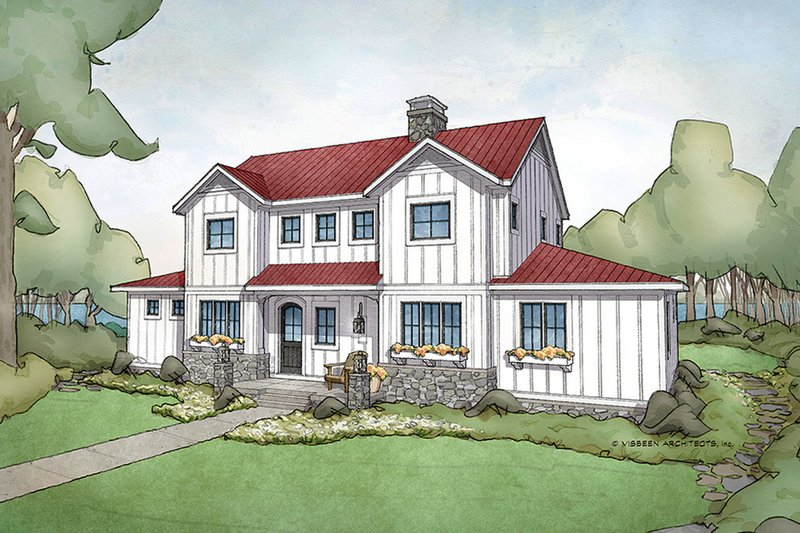 Architectural House Design - Farmhouse Exterior - Front Elevation Plan #928-306