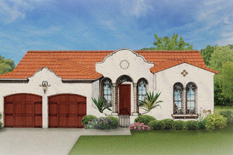 Architectural House Design - Mediterranean Exterior - Front Elevation Plan #1058-3