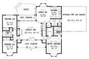 Country Style House Plan - 3 Beds 2 Baths 1380 Sq/Ft Plan #456-2 Floor Plan - Main Floor Plan