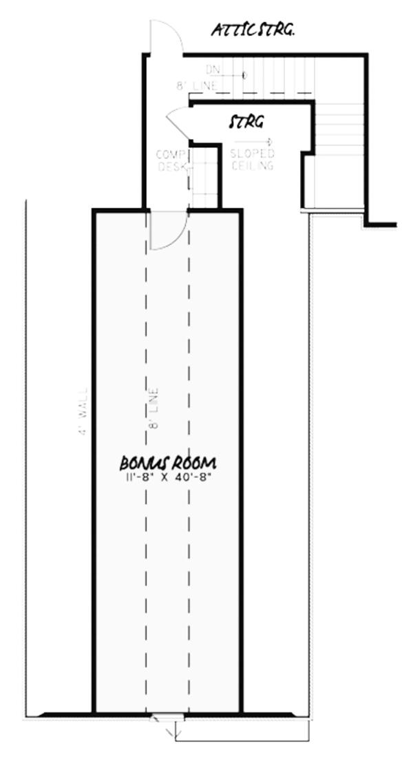 European Floor Plan - Other Floor Plan Plan #17-3379