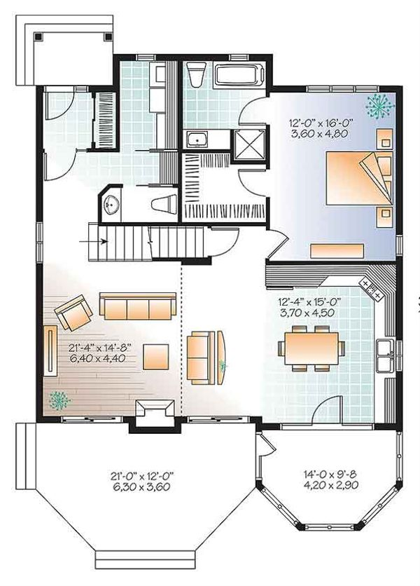 Traditional Floor Plan - Main Floor Plan Plan #23-2610