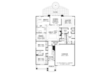 Craftsman Floor Plan - Main Floor Plan Plan #929-916