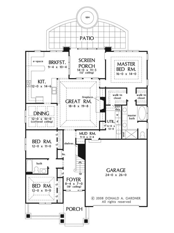 Craftsman Floor Plan - Main Floor Plan Plan #929-916
