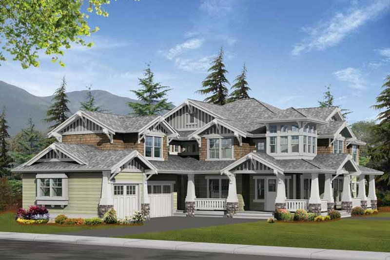 Craftsman Exterior - Front Elevation Plan #132-250 - Houseplans.com