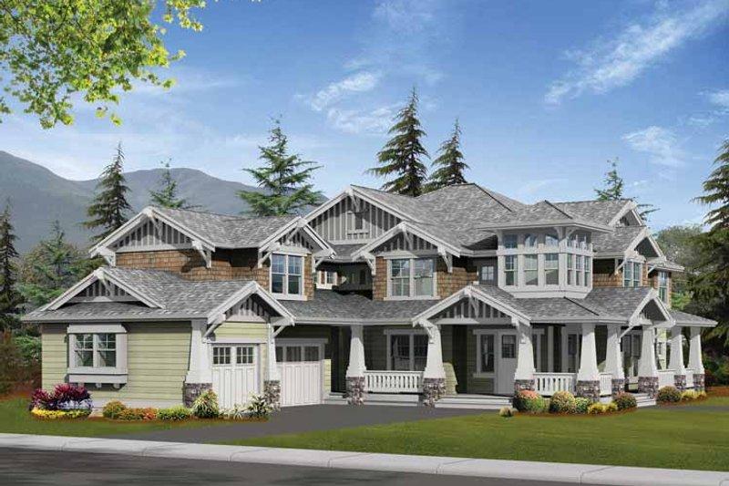 Craftsman Exterior - Front Elevation Plan #132-250 - Houseplans.com