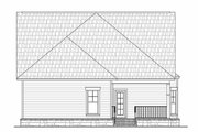 Craftsman Style House Plan - 3 Beds 2 Baths 1800 Sq/Ft Plan #21-249 Exterior - Rear Elevation