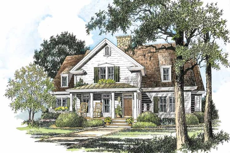 Country Exterior - Front Elevation Plan #429-197 - Houseplans.com