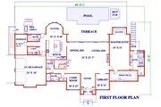 European Style House Plan - 6 Beds 6 Baths 4664 Sq/Ft Plan #3-343 Floor Plan - Main Floor