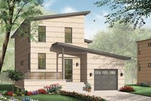 Home Plan - Contemporary Exterior - Front Elevation Plan #23-2369