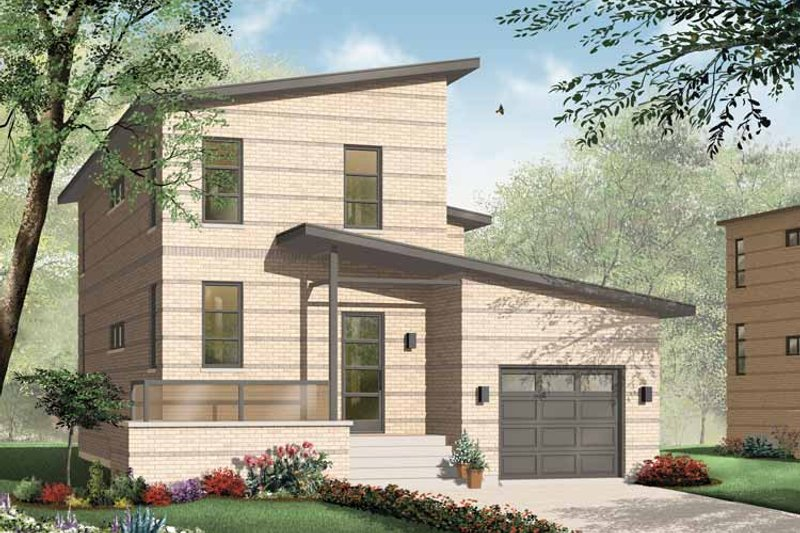 Dream House Plan - Contemporary Exterior - Front Elevation Plan #23-2369