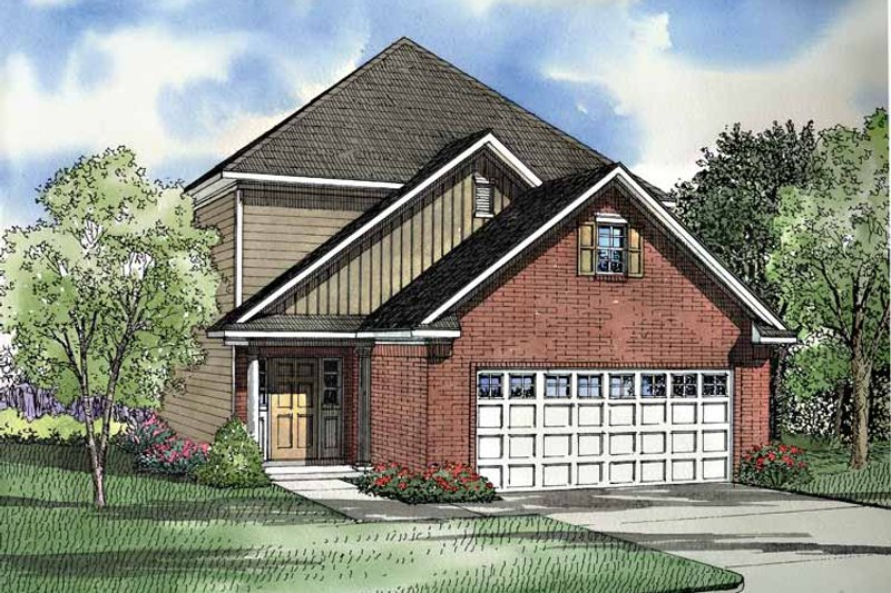 Bungalow Exterior - Front Elevation Plan #17-2997
