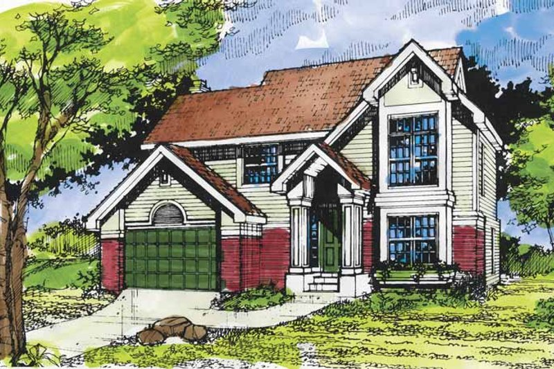 Traditional Exterior - Front Elevation Plan #320-949 - Houseplans.com