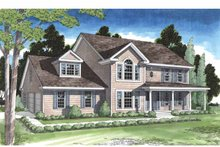Classical Exterior - Front Elevation Plan #1029-1