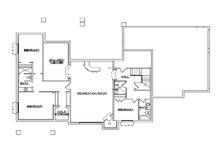 European Floor Plan - Lower Floor Plan Plan #5-355