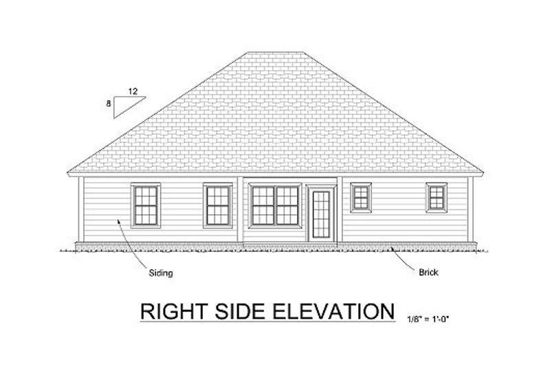 Traditional Exterior - Rear Elevation Plan #513-7 - Houseplans.com