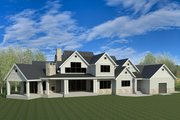 Craftsman Style House Plan - 6 Beds 7.5 Baths 7834 Sq/Ft Plan #920-96 Exterior - Rear Elevation