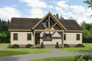 House Blueprint - Traditional Exterior - Front Elevation Plan #932-406