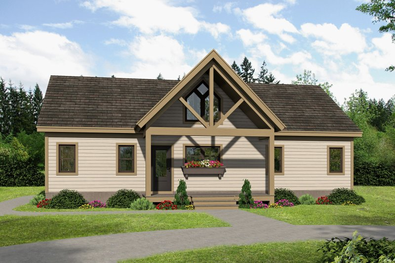 Home Plan - Traditional Exterior - Front Elevation Plan #932-406