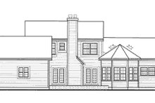 Country Exterior - Rear Elevation Plan #3-214