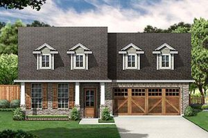 Cottage Exterior - Front Elevation Plan #84-267
