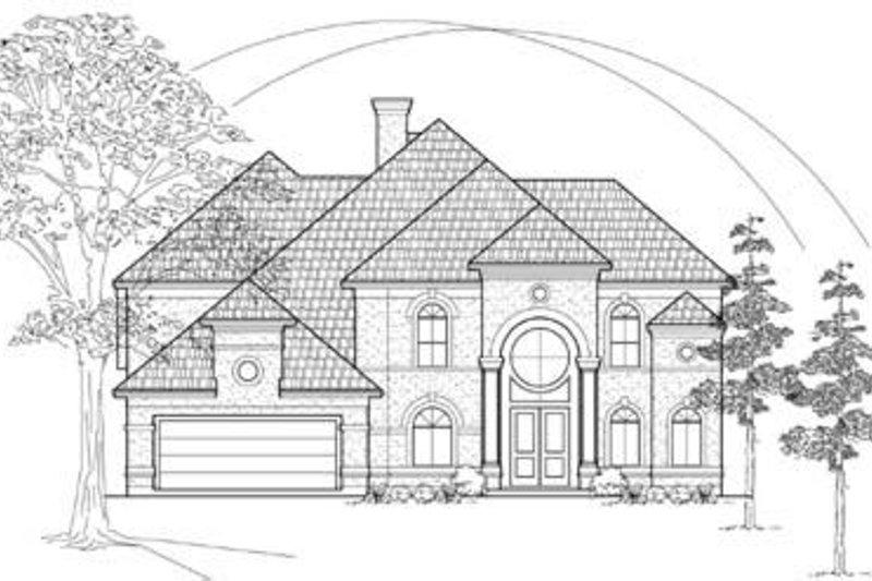 European Exterior - Front Elevation Plan #61-129 - Houseplans.com