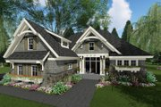 Craftsman Style House Plan - 3 Beds 2.5 Baths 2300 Sq/Ft Plan #51-584 Exterior - Front Elevation
