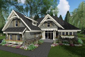Craftsman Exterior - Front Elevation Plan #51-584