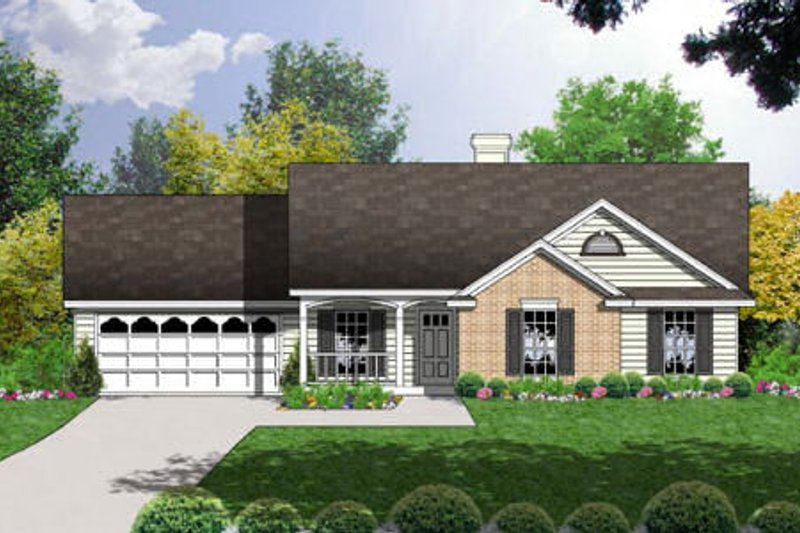 Farmhouse Exterior - Front Elevation Plan #40-164 - Houseplans.com