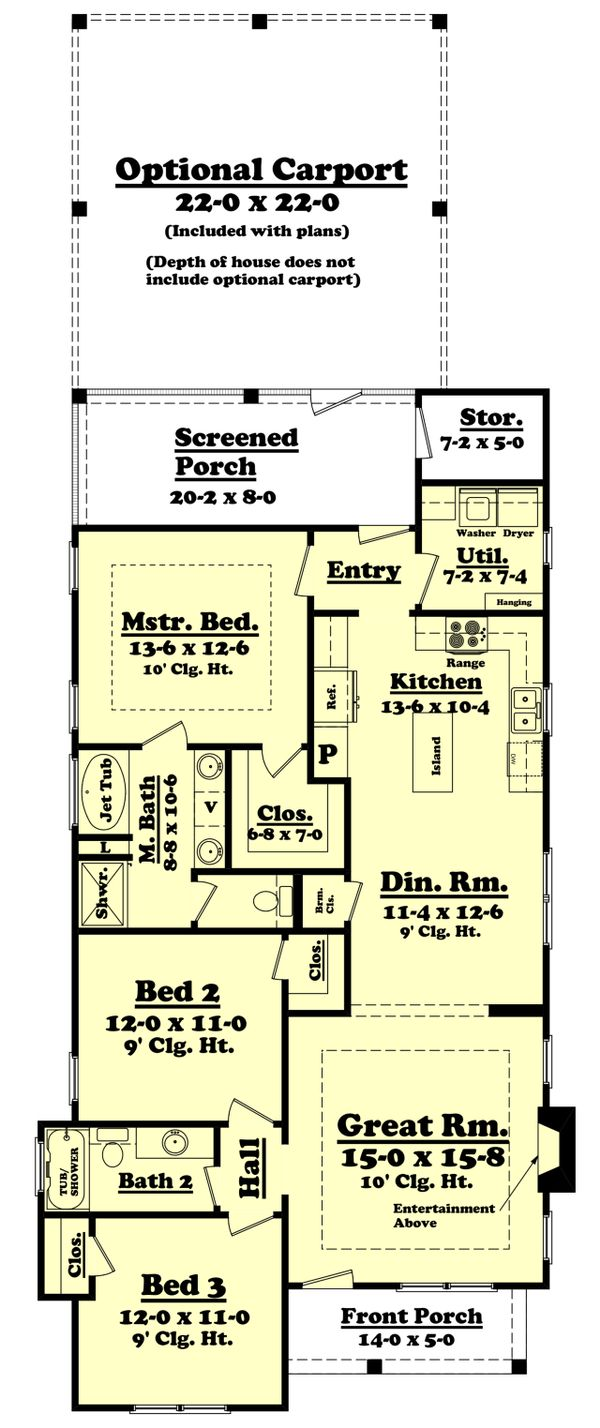 Cottage Floor Plan - Main Floor Plan Plan #430-95
