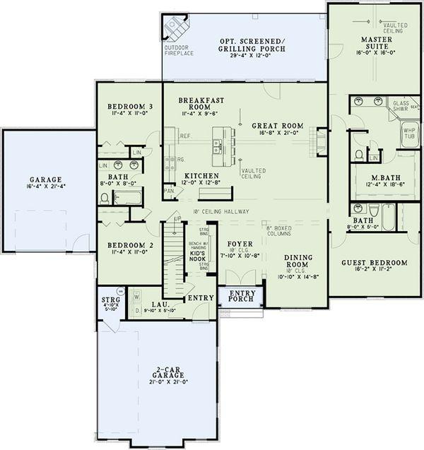 European Floor Plan - Main Floor Plan Plan #17-2537