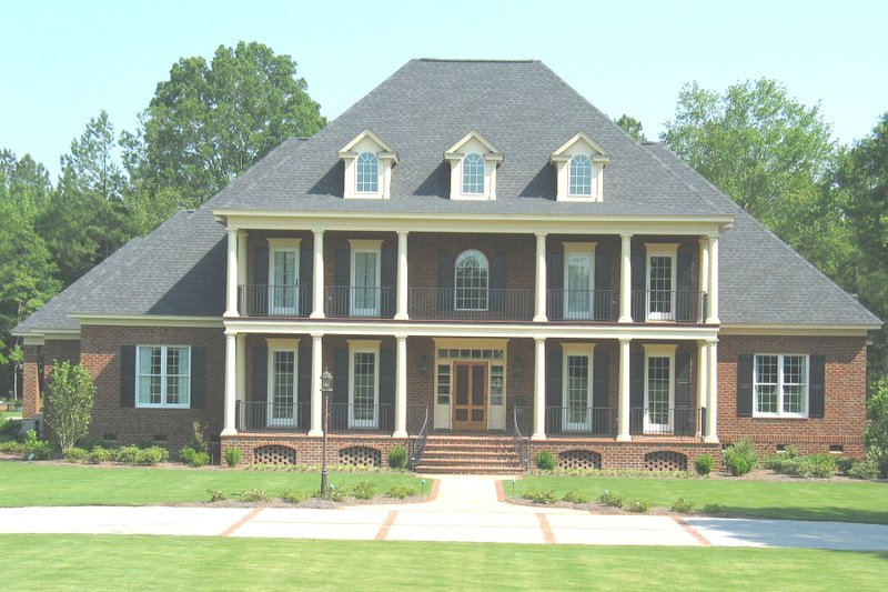 Colonial Style House Plan - 4 Beds 4.5 Baths 5508 Sq/Ft Plan #1054-70