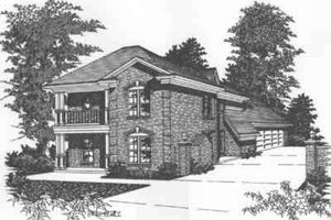 Colonial Exterior - Front Elevation Plan #329-133