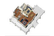 Country Style House Plan - 3 Beds 1 Baths 1781 Sq/Ft Plan #25-4552 Floor Plan - Main Floor Plan