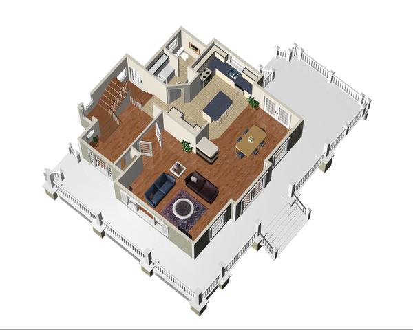 Country Floor Plan - Main Floor Plan Plan #25-4552
