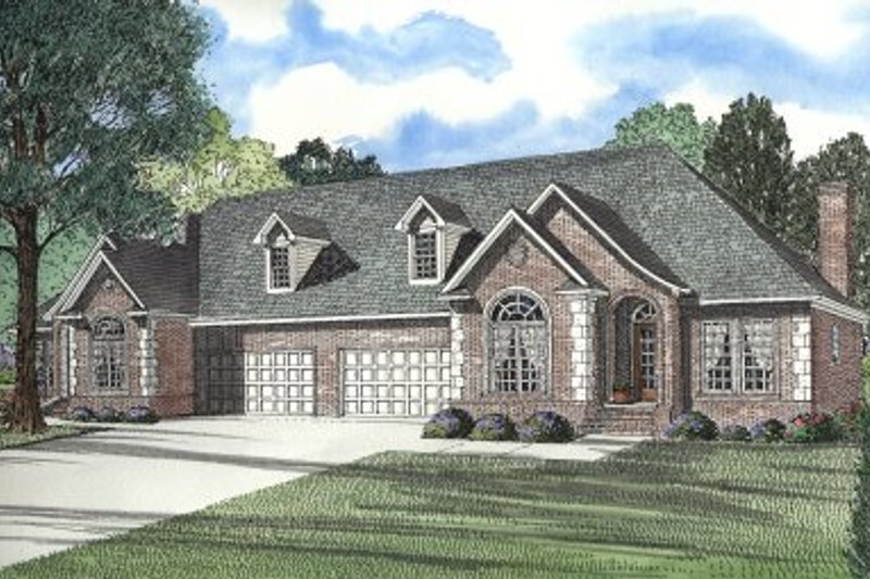 Dream House Plan - European Exterior - Front Elevation Plan #17-2010