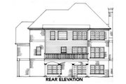 Traditional Style House Plan - 3 Beds 3 Baths 2187 Sq/Ft Plan #429-19 Exterior - Rear Elevation