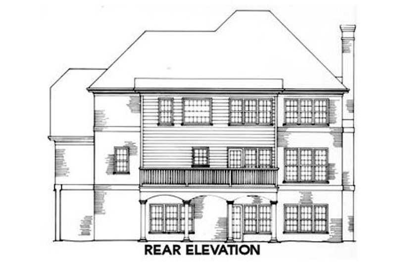 Traditional Exterior - Rear Elevation Plan #429-19 - Houseplans.com
